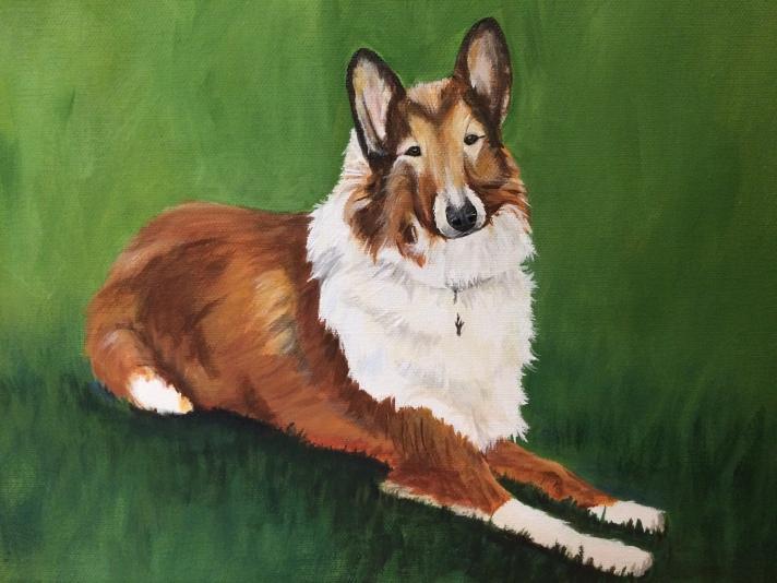 "Kaylee. 9""x12"" acrylic painting"